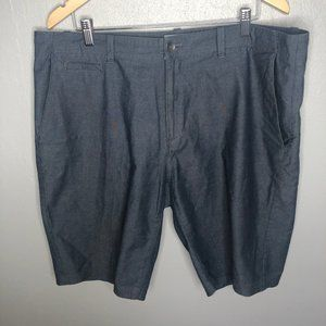 Calvin Klein Slate Blue Flat Front Casual Shorts